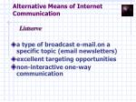 alternative means of internet communication13