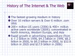 history of the internet the web15
