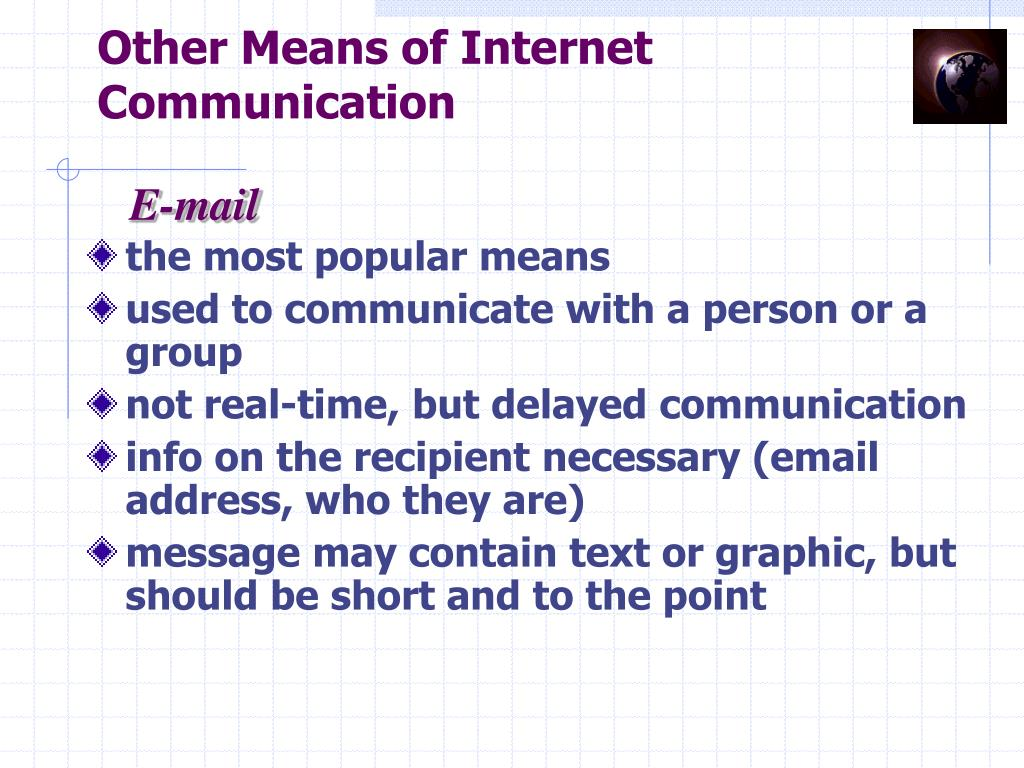 Other Means of Internet Communication