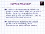 the web what is it