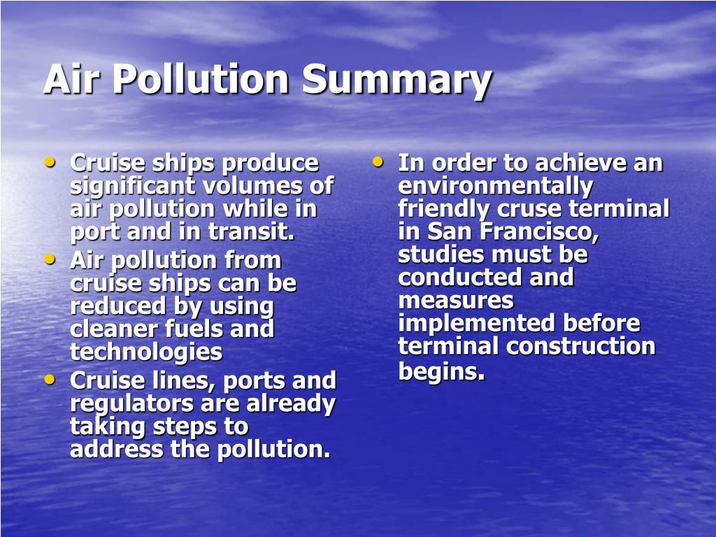 air pollution summary 7