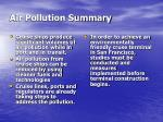 air pollution summary