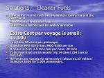 solutions cleaner fuels