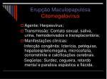 erup o maculopapulosa citomegalov rus