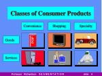 classes of consumer products