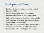 development of taxol