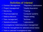 activities of interest