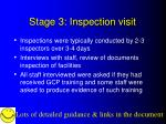 stage 3 inspection visit