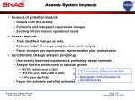 assess system impacts
