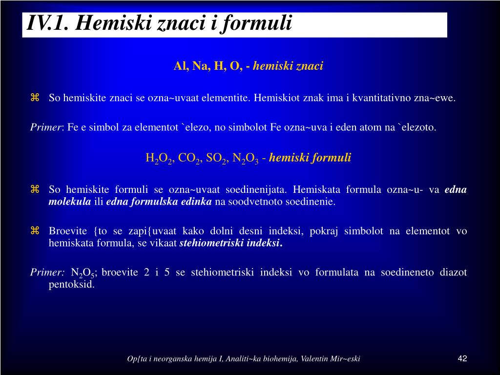 iv 1 hemiski znaci i formuli l.