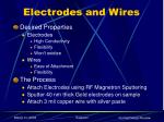 electrodes and wires