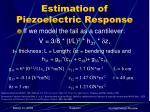 estimation of piezoelectric response