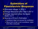 estimation of piezoelectric response1