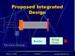 proposed integrated design