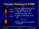 tensile testing of pvdf