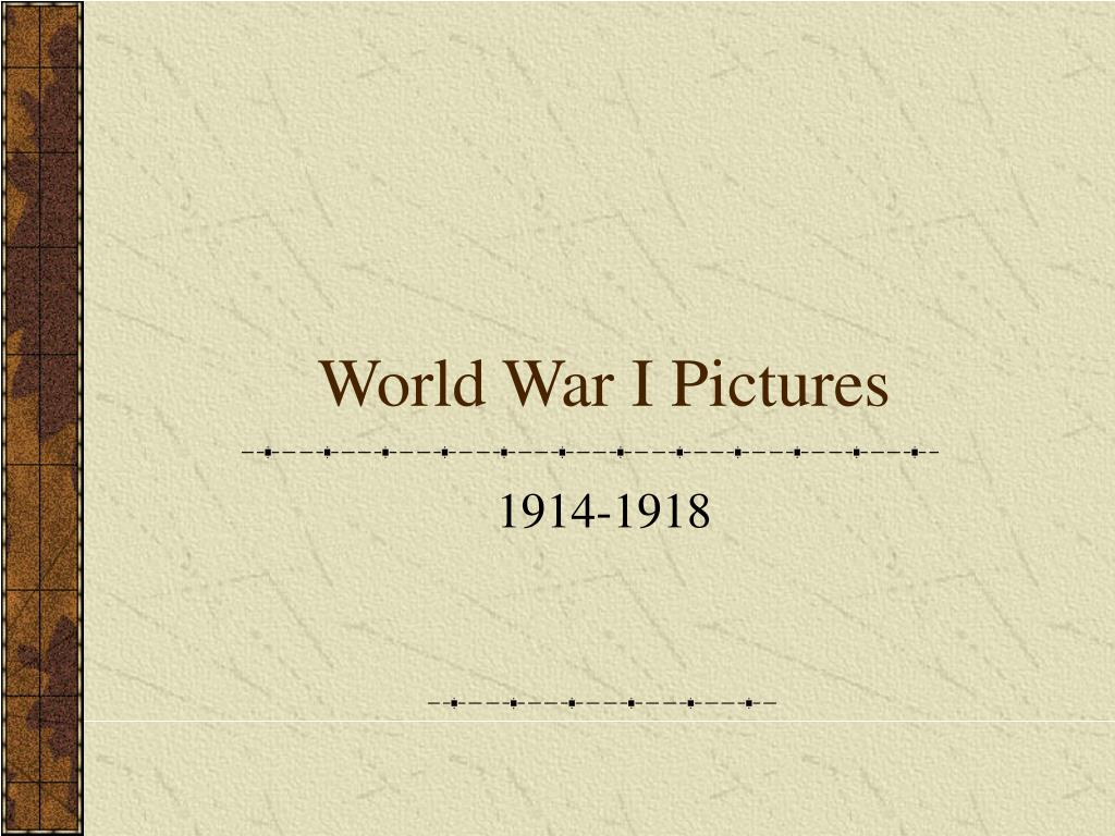 world war i pictures l.