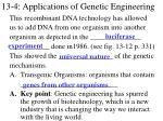 13 4 applications of genetic engineering