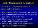 battle organization underway