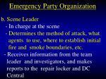 emergency party organization25