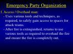 emergency party organization31