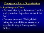 emergency party organization33