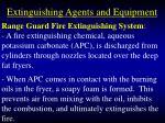 extinguishing agents and equipment101