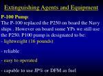 extinguishing agents and equipment77