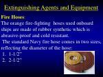 extinguishing agents and equipment80