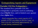 extinguishing agents and equipment83