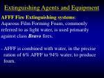 extinguishing agents and equipment92