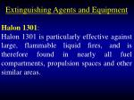 extinguishing agents and equipment97