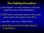 fire fighting procedures41