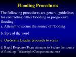 flooding procedures