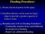 flooding procedures47