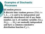 examples of stochastic processes