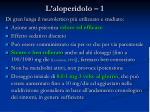 l aloperidolo 1