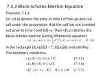 7 3 2 black scholes merton equation