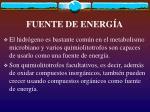 fuente de energ a
