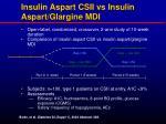 insulin aspart csii vs insulin aspart glargine mdi