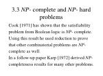 3 3 np complete and np hard problems41