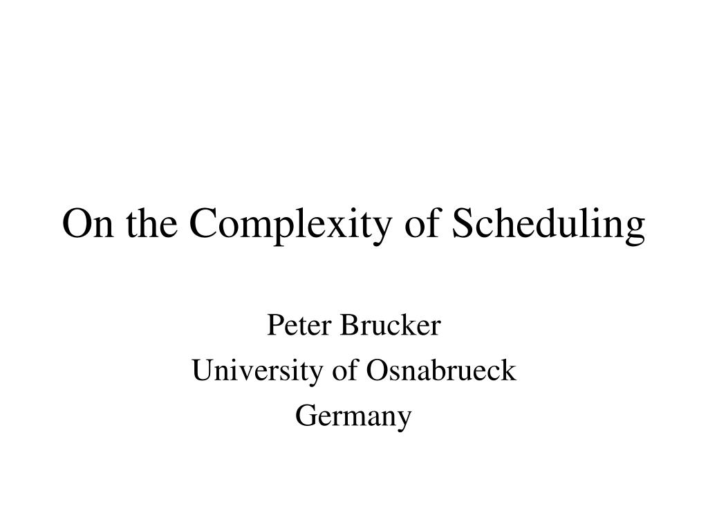 on the complexity of scheduling l.