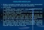 analisis masalah