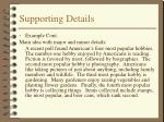 supporting details7