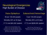 neurological emergencies high burden of disease7