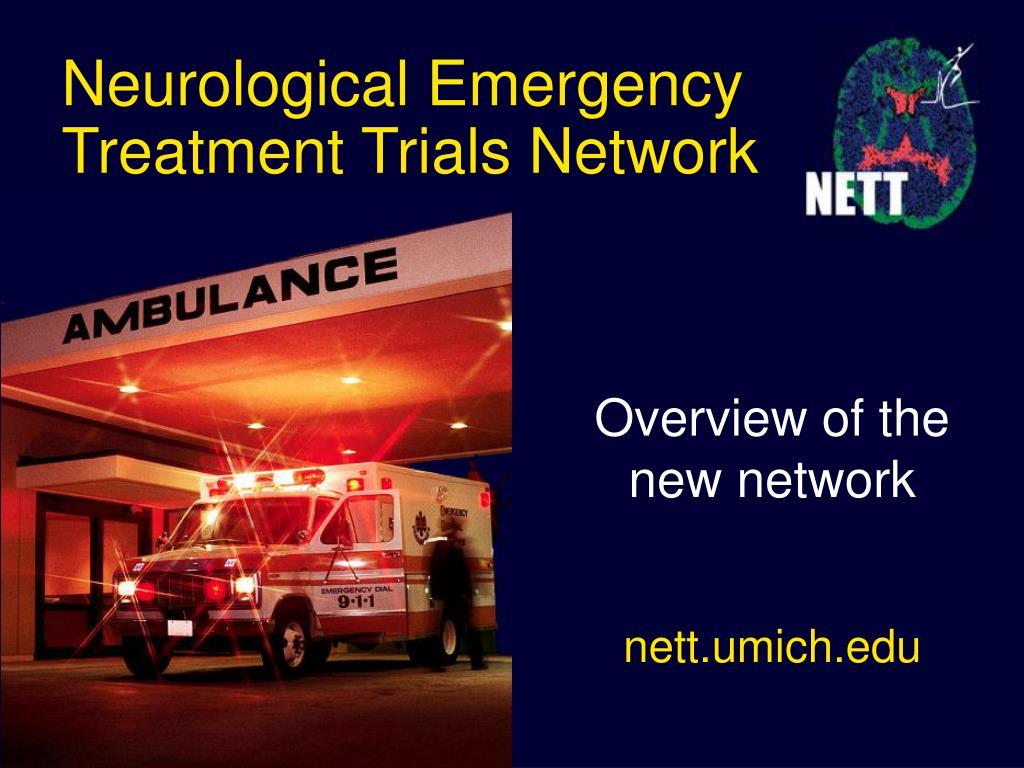 neurological emergency treatment trials network l.