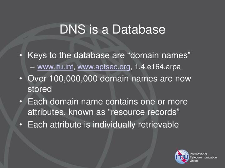 DNS is a Database