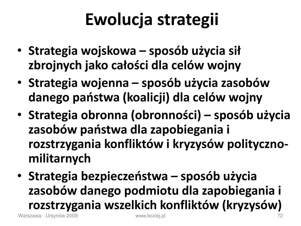 Ewolucja strategii