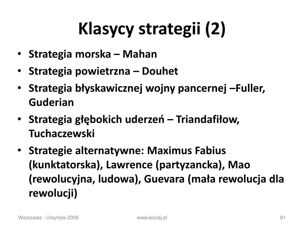 Klasycy strategii (2)
