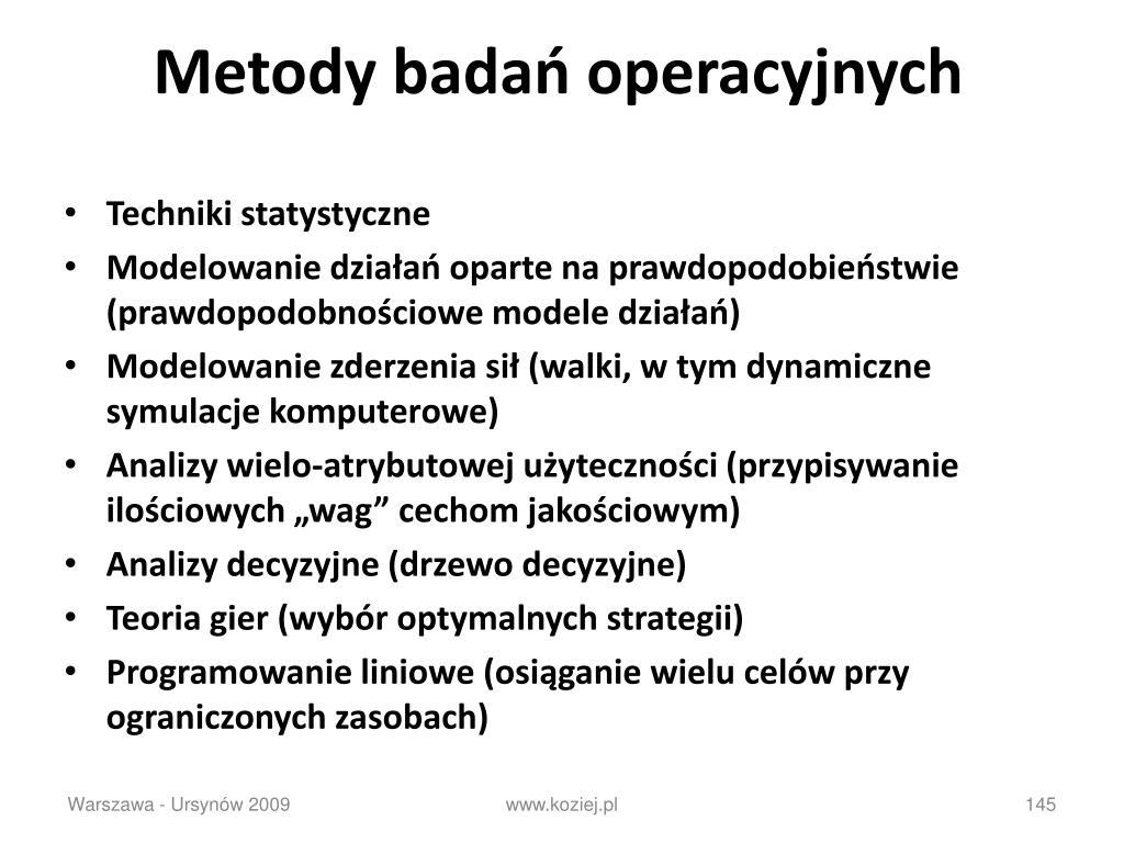 Metody badań operacyjnych