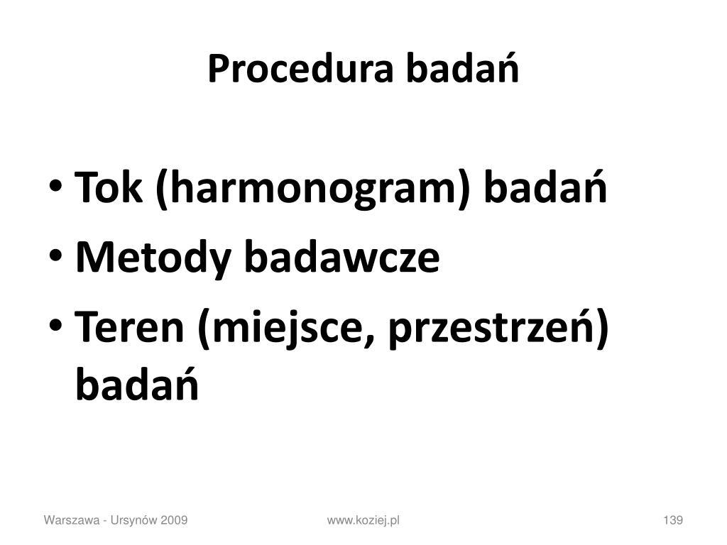 Procedura badań